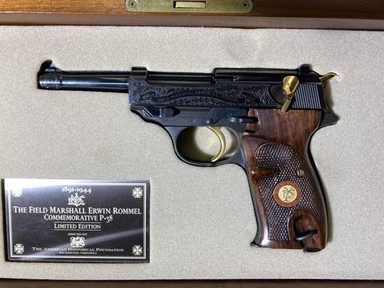 Authentic period German P-38 Pistol - Erwin Rommel edition