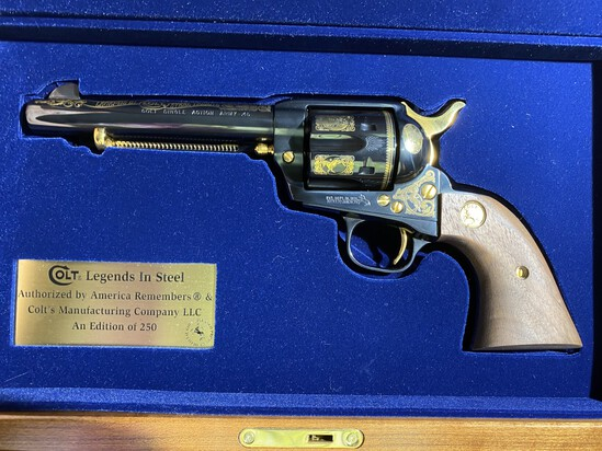 Colt 45 Cal Peacemaker Single Action Army Revolver Edition of 250 by America Remembers