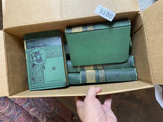 Box of Antique Books - Dickens' Works