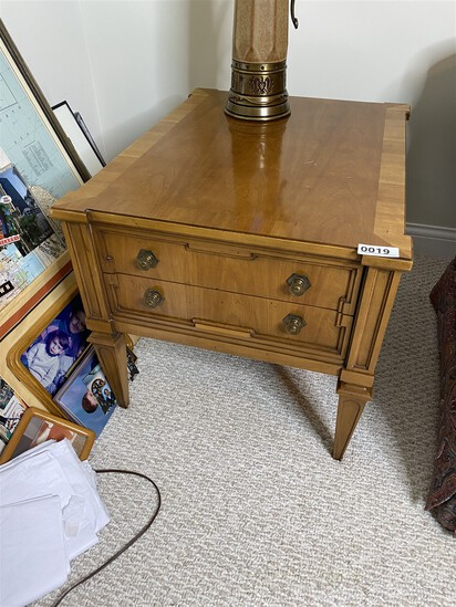 Vintage End Table with Drawers