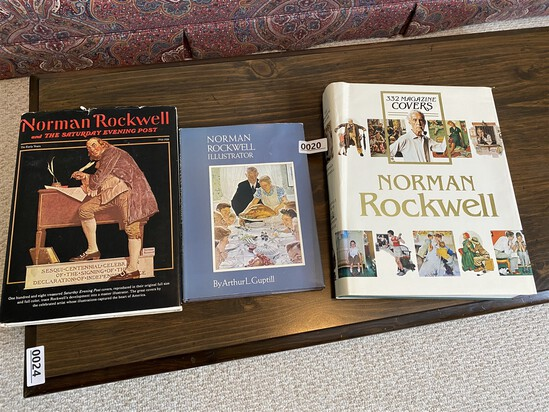 Group lot of three hard bound books - Norman Rockwell