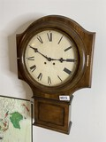Vintage Wind Up Wall Clock by PF Bollenbach Co.