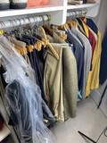Closet contents - men's sport coats, shirts, ties, pants etc