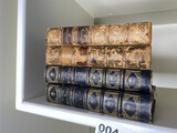 2 pairs of Antique Leather Bound Books