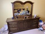 Vintage Heywood Wakefield dresser with mirror