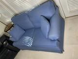 Blue Upholstered Loveseat by Ethan Allen