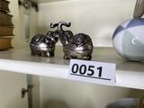 Pair of unusual SE Asian 90 percent silver elephants