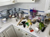 Large lot of dishes, kitchenwares