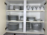 Large grouping of white china PLUS W. Germany Pottery