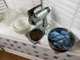 Vintage Sunbeam mixer and accessories