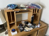 Fabrics, purses, desk and office supplies