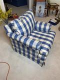 Vintage upholstered blue chair