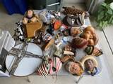 Kabuki masks, English Bossons Heads, circuit board sun catcher and more