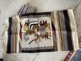 Vintage Central American Blanket or Carpet PLUS
