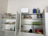 Cupboards lot including flatware