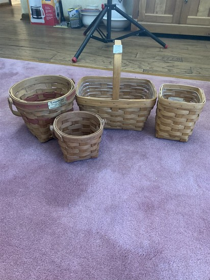4 Longaberger Baskets