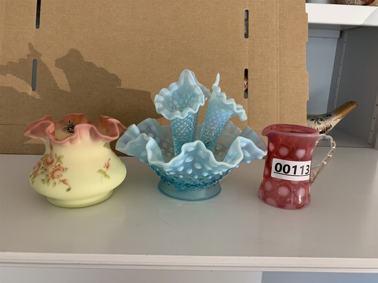 3 Pieces Fenton Glass