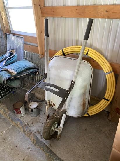 Older metal wheelbarrow
