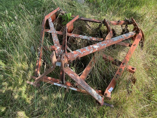 Vintage Small Metal Tractor Disc Plow