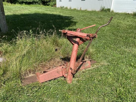 Vintage Metal Tractor Mounted Plow