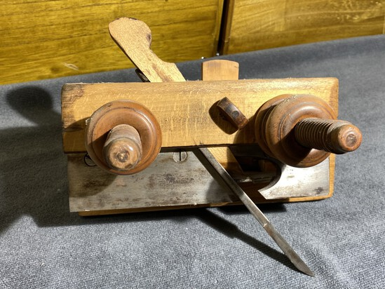 Antique Greenfield Tool Co. Maple Wood Plow Plane