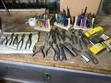 Group lot of assorted pliers of various sizes