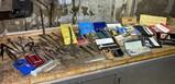 Giant lot of precision measuring tools, calipers, gauges Starrett etc