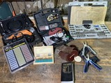 Large lot of assorted tools - rotary, thread cutter, sharpeners etc.