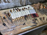 Large lot of assorted Chisels, files etc