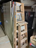 Lot of two wooden ladders