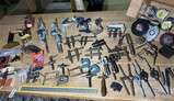 Large lot of vintage small clamps, other tools