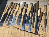 Big lot of assorted Scrapers or smaller timber chisels or slicks