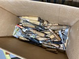 Box lot of assorted old chisel handles