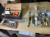 Large lot assorted leather working tools and more
