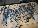 Lot of assorted wrenches and tools