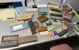 Large lot of assorted sharpening stones