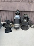 Victor Portable Stereopticon, Bantam Super Spot Stage Light, Bausch & Lomb Optical Editor