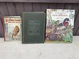 3 Vintage or antique books on birds.