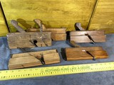 Group of 5 Antique Wooden  Moulding Planes with Blades