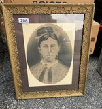 Antique Chalk photo Portrait