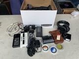 Nikon Camera, Microphone, Original Walkman and more