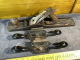 Stanley/Bailey No. 6 Jointer Bench Plane + 2 cabinet scrapers