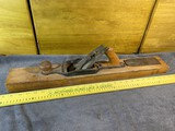 Large sized wooden block plane with extra blade