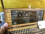 Set of Jennings Spur Auger Bits in case