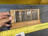 Case of Antique Plane Cutters or Blades