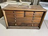 Antique Wooden Carpenter's Toolbox