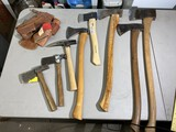Group Lot of Better Axes, Hatchets, Pick etc