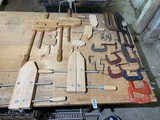 Large lot of assorted clamps - Wood and metal
