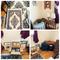 Luggage, 3 side tables, shelf, mirror, rugs, and sleeping bag