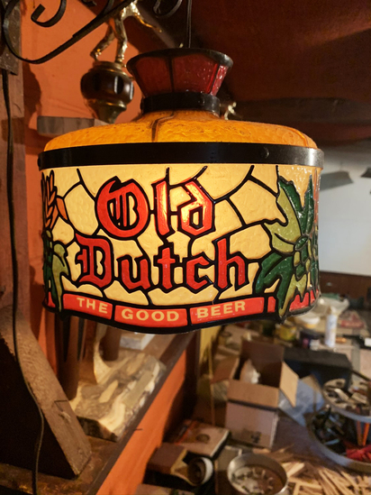 Vintage Plastic Old Dutch Beer Light (Works, No Cracks)